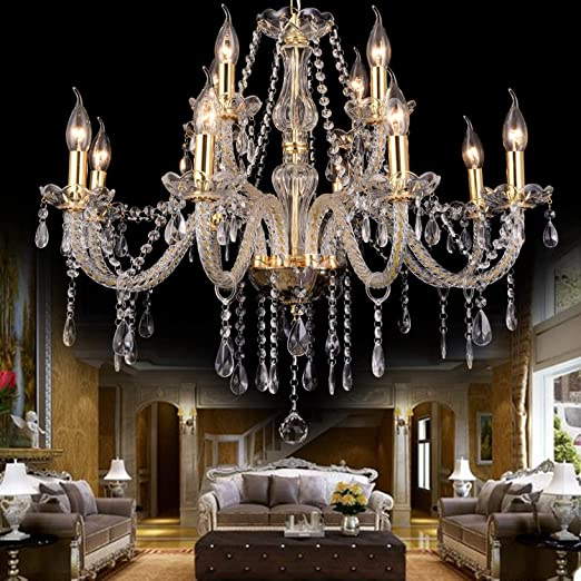 European Living Room K9 Crystal Chandelier restaurant Ceiling Lights Fixtures