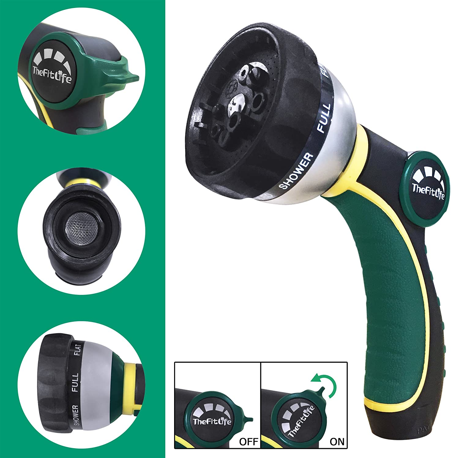 TheFitLife Best Expandable Garden Hose 25//50//75//100 Feet Strongest Triple Core Latex and Solid Brass Fittings Free Spray Nozzle 3//4 USA Standard Easy Storage Kink Free Flexible Water Hose 100 Feet