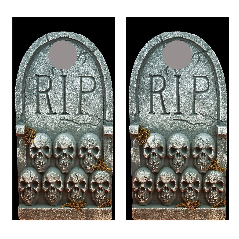 Amazon.com: Lets Print Big Tombstone R.I.P. Cornhole ...