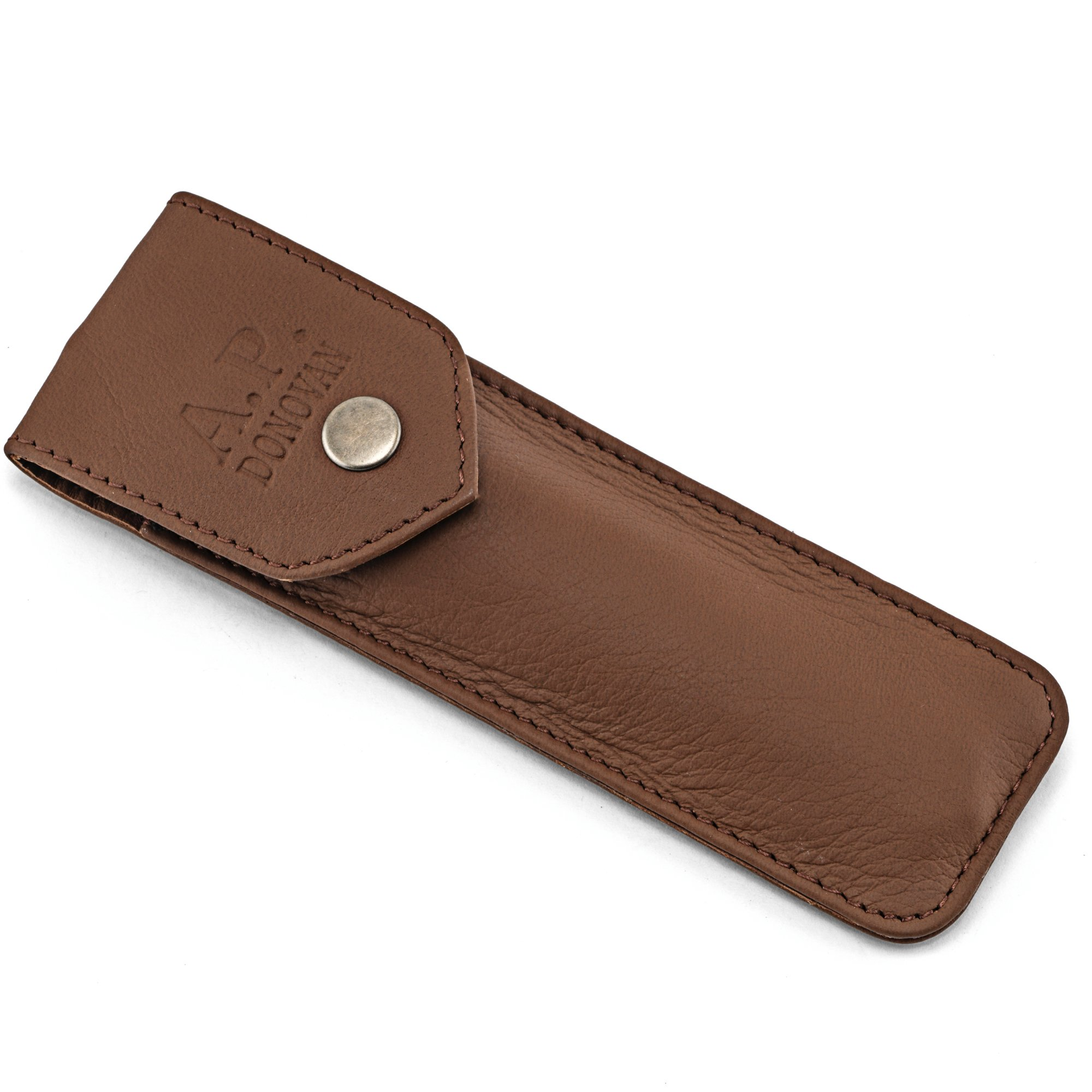 A.P. Donovan - Leather Case for Straight Razor - travel case - leather bag
