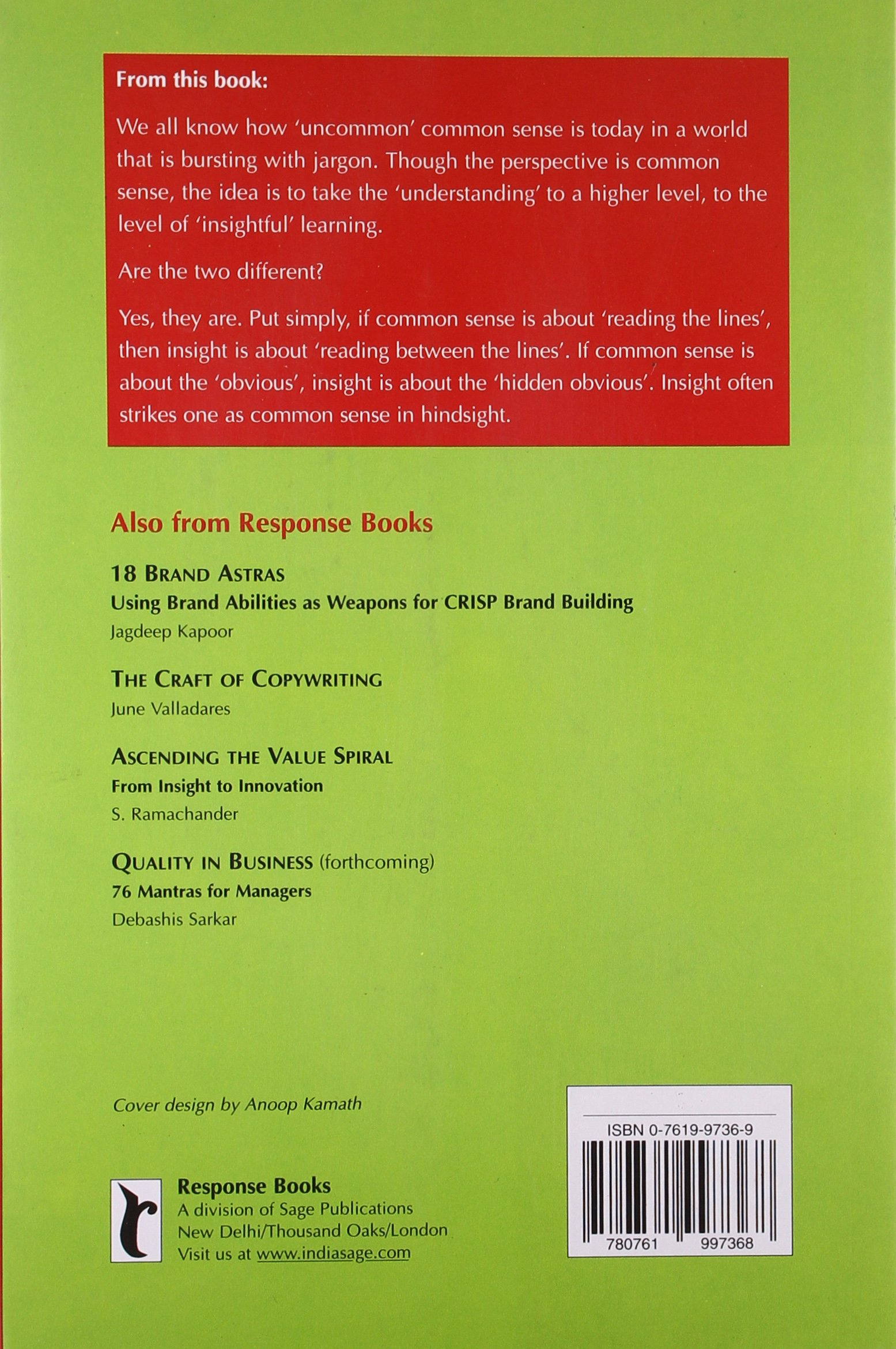 Ascending the Value Spiral: From Insight to Innovation (Response Books)