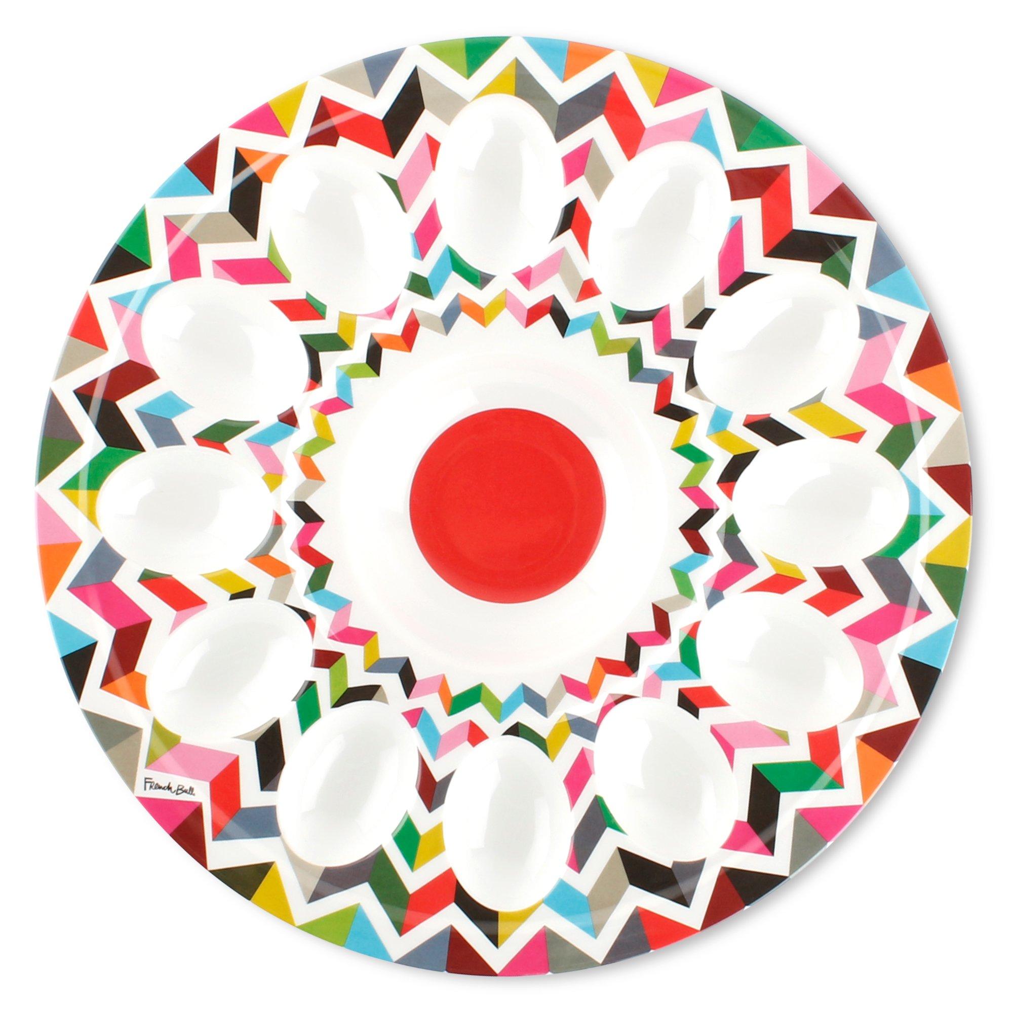 French Bull 12'' Egg Tray - Melamine Dinnerware - Platter, Dish, Serving, Deviled, Easter - Ziggy