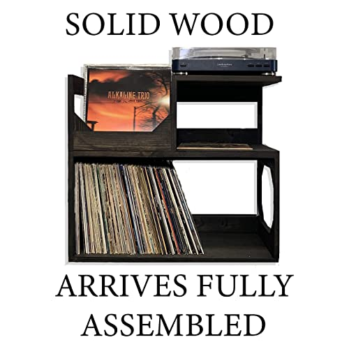 c08106458b Amazon.com: Vinyl Record end Table // Stash Your Wax and other items in  style! Displays, Protects and allows easy access to your collection of over  250: ...