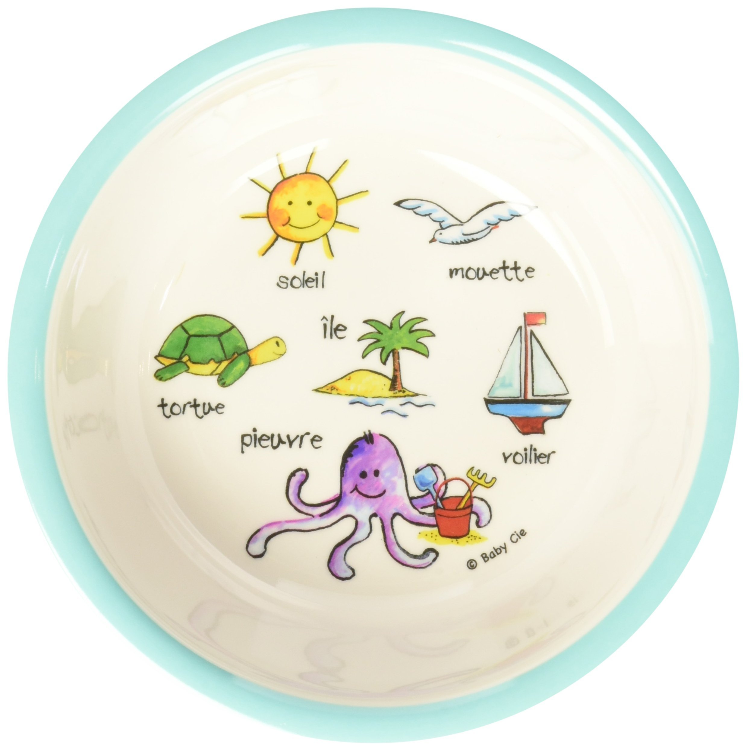 Baby Cie Ocean Animal Suction Bowl, Multicolor, One Size