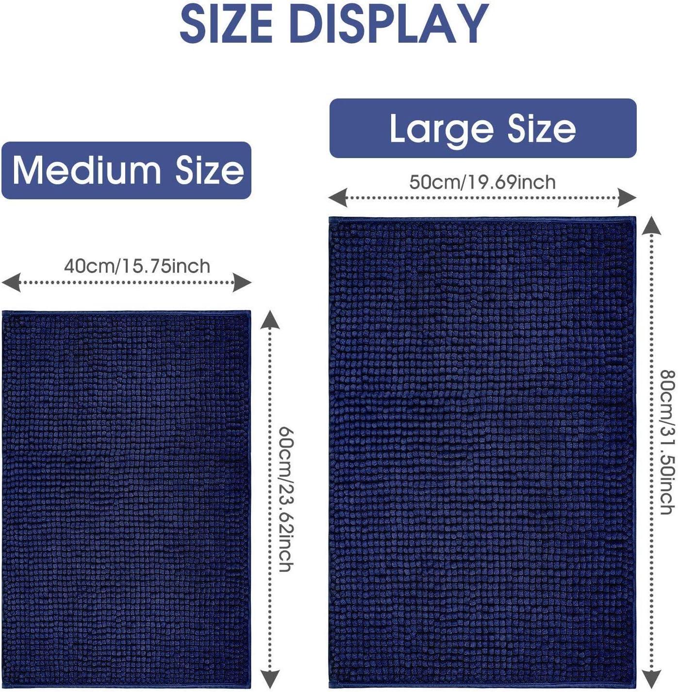 "16/"" x 24/"", Blue Klickpick Designs Chenille Microfibre Bath Rug Machine Washable Bath mat"