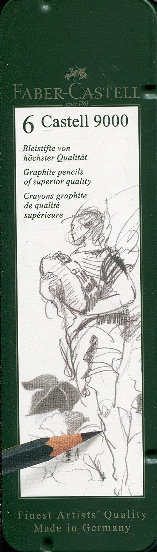 Faber Castell 9000 - Set Di 6 Matite (HB, B, 2B, 4B, 6B,8B) Faber-Castell F119063