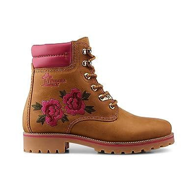 559df08bf7f0bc PANAMA JACK Damen Stiefeletten Limited Rose Panama 03 beige 335664   Amazon.de  Schuhe   Handtaschen