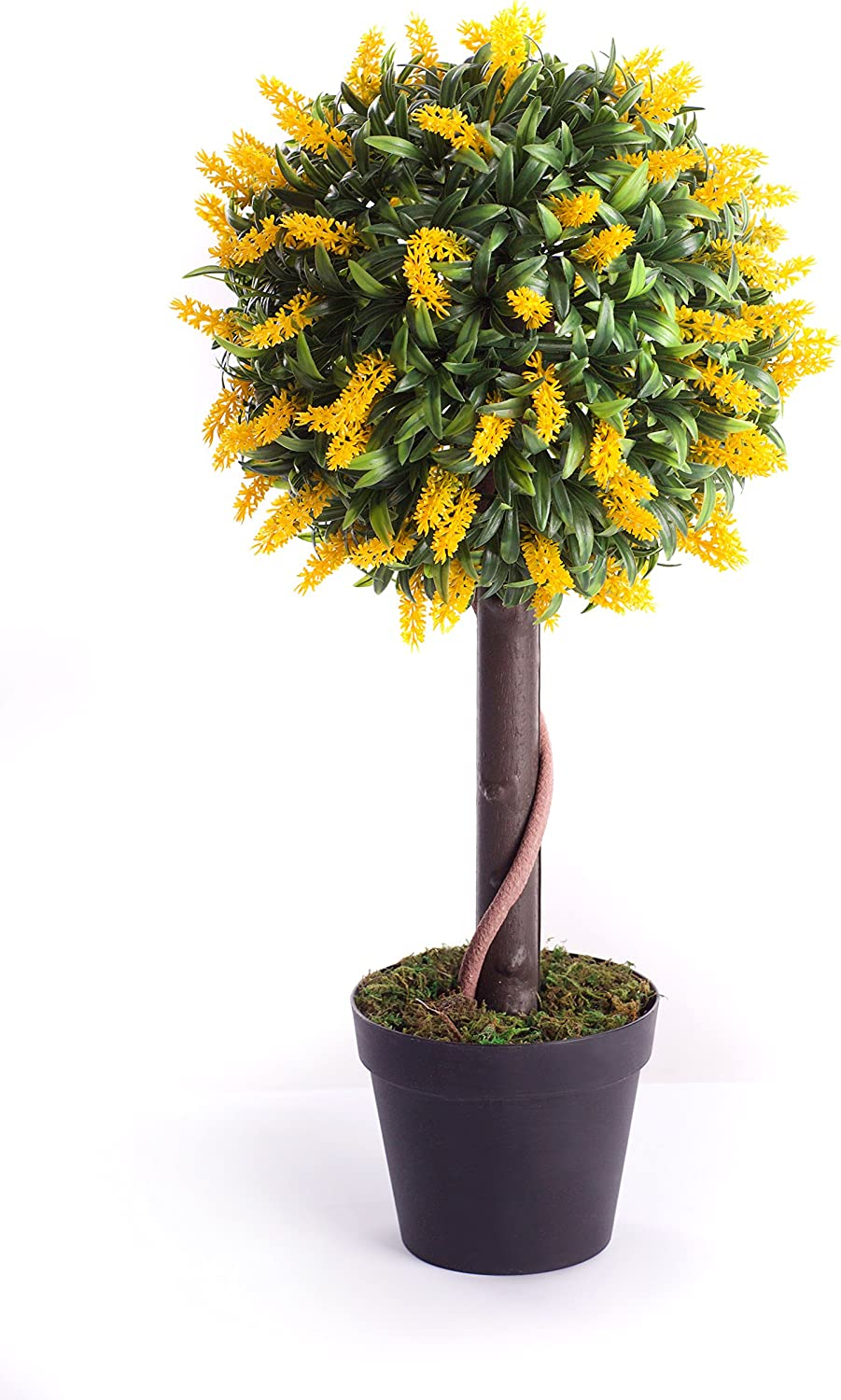 Blue Best Artificial 2ft 60cm Lavender Ball Tree Plant Garden Office Conservatory Tropical Indoor Outdoor