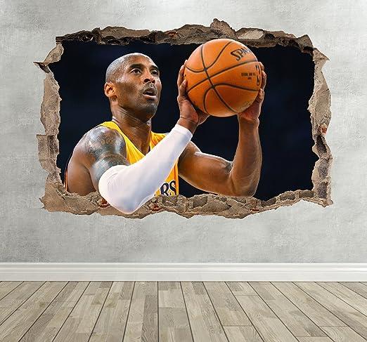 Wall Decor 247 Pegatina de Pared 3D de Kobe Bryant, diseño de ...