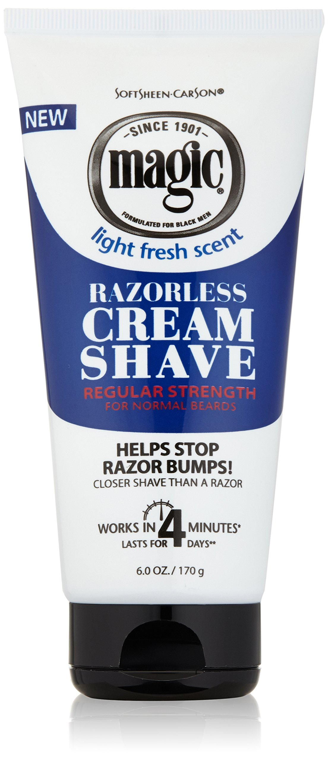 SoftSheen Carson Magic Regular Razorless Cream Shave 6 Oz (Pack of 6)