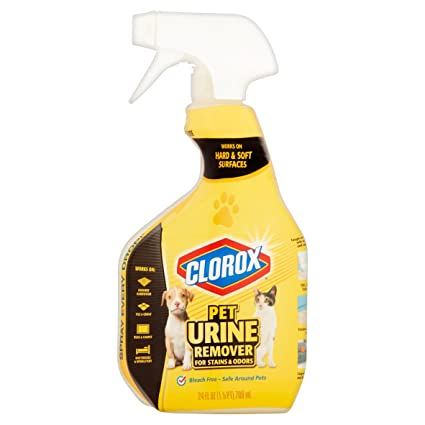 Clorox Pet Urine Remover for Stains and Odours, Spray Bottle, 710mls