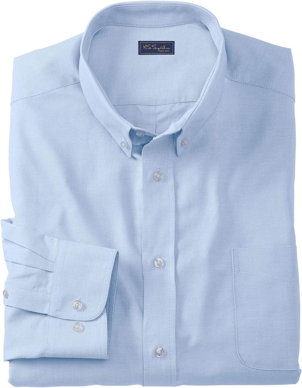 Sky Blue Big-1933//4 Kingsize Signature Collection Mens Big /& Tall Kingsize Signature Collection Wrinkle-Resistant Oxford Dress Shirt