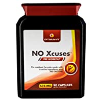 Pre Workout Capsules with Creatine – Caffeine Free Supplement - 50% Extra FREE (90 Tablets for the Price of 60) – Money Back Guarantee: NO Xcuses