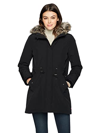 Amazon.com: Levi's Women's Faux Fur Lined Hooded Parka Jacket ...