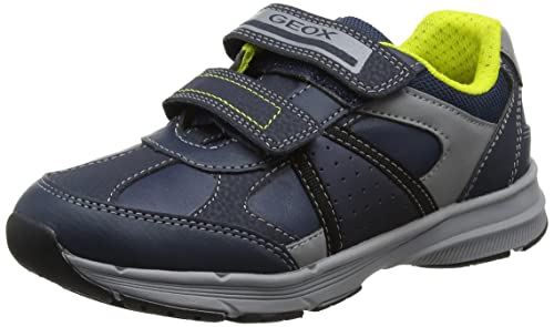 Geox J Munfrey B, Zapatillas para Niños, Gris (Grey/Navy), 33 EU