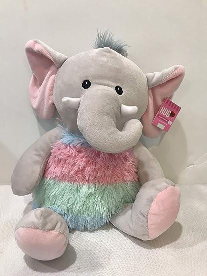 Blue Big Teddy Bear, Amazon Com Hugfun Plush Elephant Rainbow 10 5 Soft Cuddly Doll Fluffy Friend Toys Games