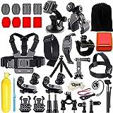 Gopro Zubehör Set, Iextreme 45-in-1 Action Kamera Bundle Set für GoPro Hero 6/5/4/3+/3/2/1 SJ4000 SJ7000 DBPOWER AKASO VicTsing APEMAN WiMiUS Rollei QUMOX Lightdow Campark und Sony Sports DV