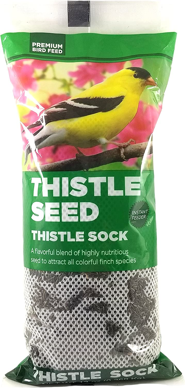 Premium Bird Feed Nyjer Thistle Sock Finch Feeder