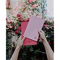 Libretas Bulled Journal Set de 2pzas Rosas Tamaño: 13.5 cm x 21cm Interiores papel bond marfil Portada: Novart Interiores: Hojas Puntos/Hoja Lisa 80 páginas C/U ENVIO EXPRESS GRATIS
