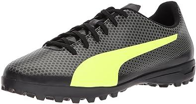 9b996a6d078 PUMA Men s Spirit Turf Trainer Soccer Shoe Black-Fizzy Yellow-Castor Gray
