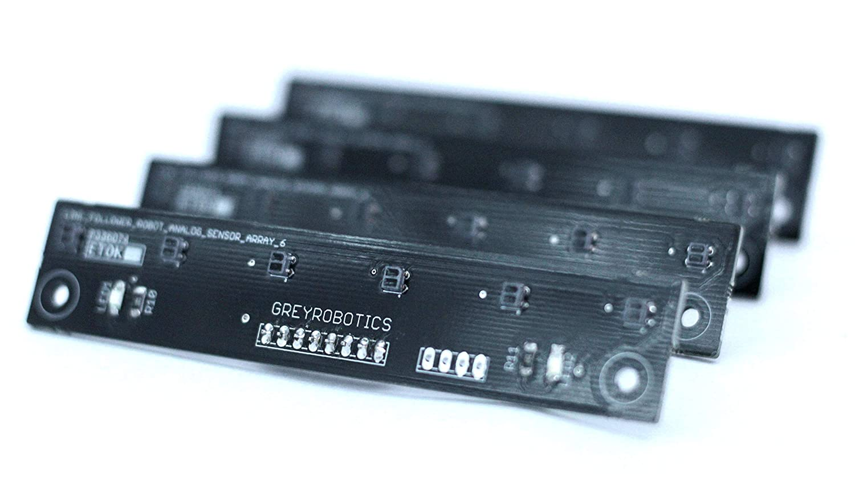 Greyrobotics Line Follower Robot Analog Digital Sensor Array Of 6 Analoglinefollowercircuitjpg Using Reflectance Sensors For High Precision