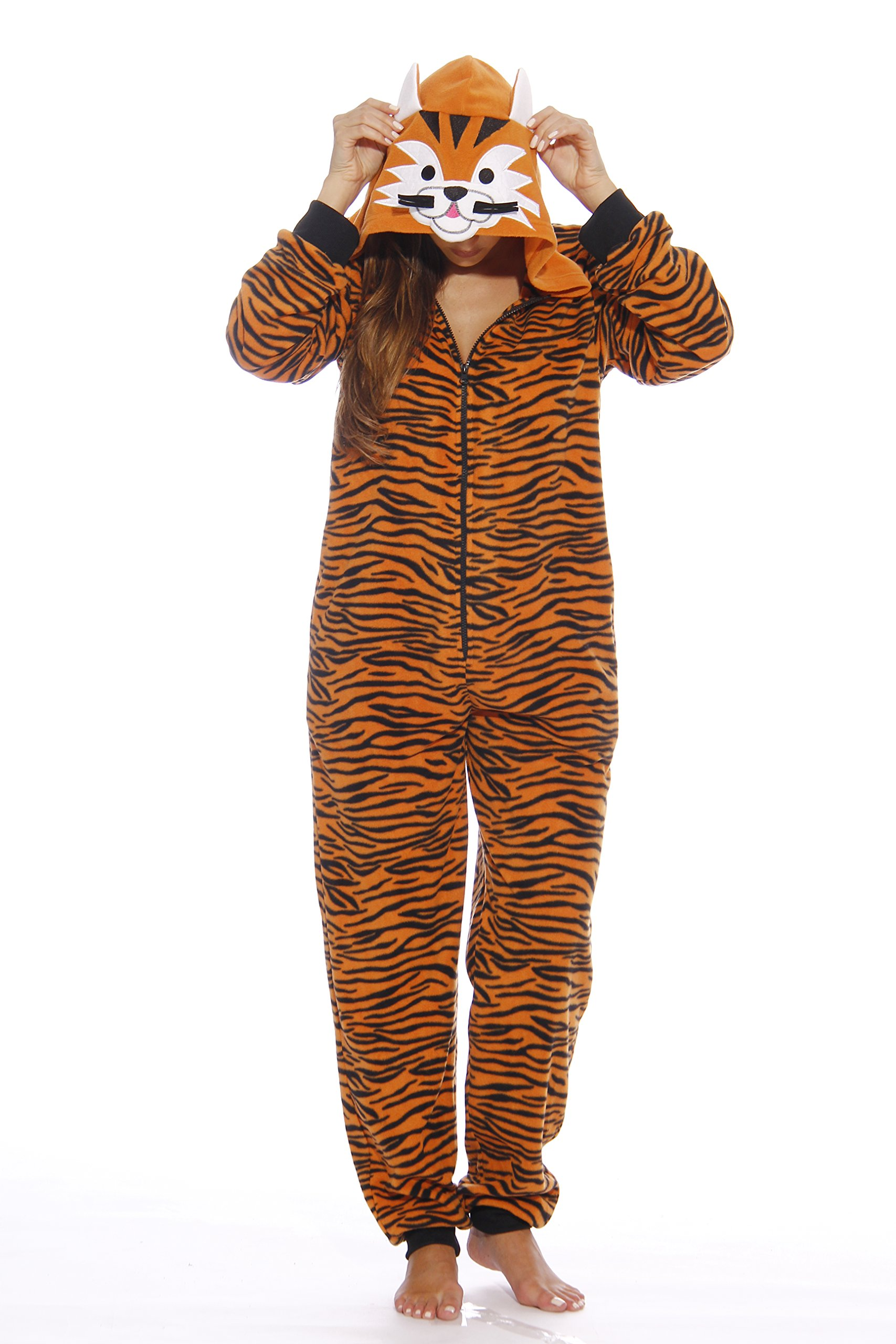 Just Love Adult Onesie / Onesies / Pajamas, Tiger New, Medium
