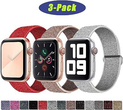 Image ofSSEIHI Correa de Apple Watch 38mm 40mm 42mm 44mm,Soft Sport Strap Reemplazo de Correa de Repuesto de Nylon Transpirable Ligero para la iWatch Serie 5/4/3/2/1,Sport+, Edition