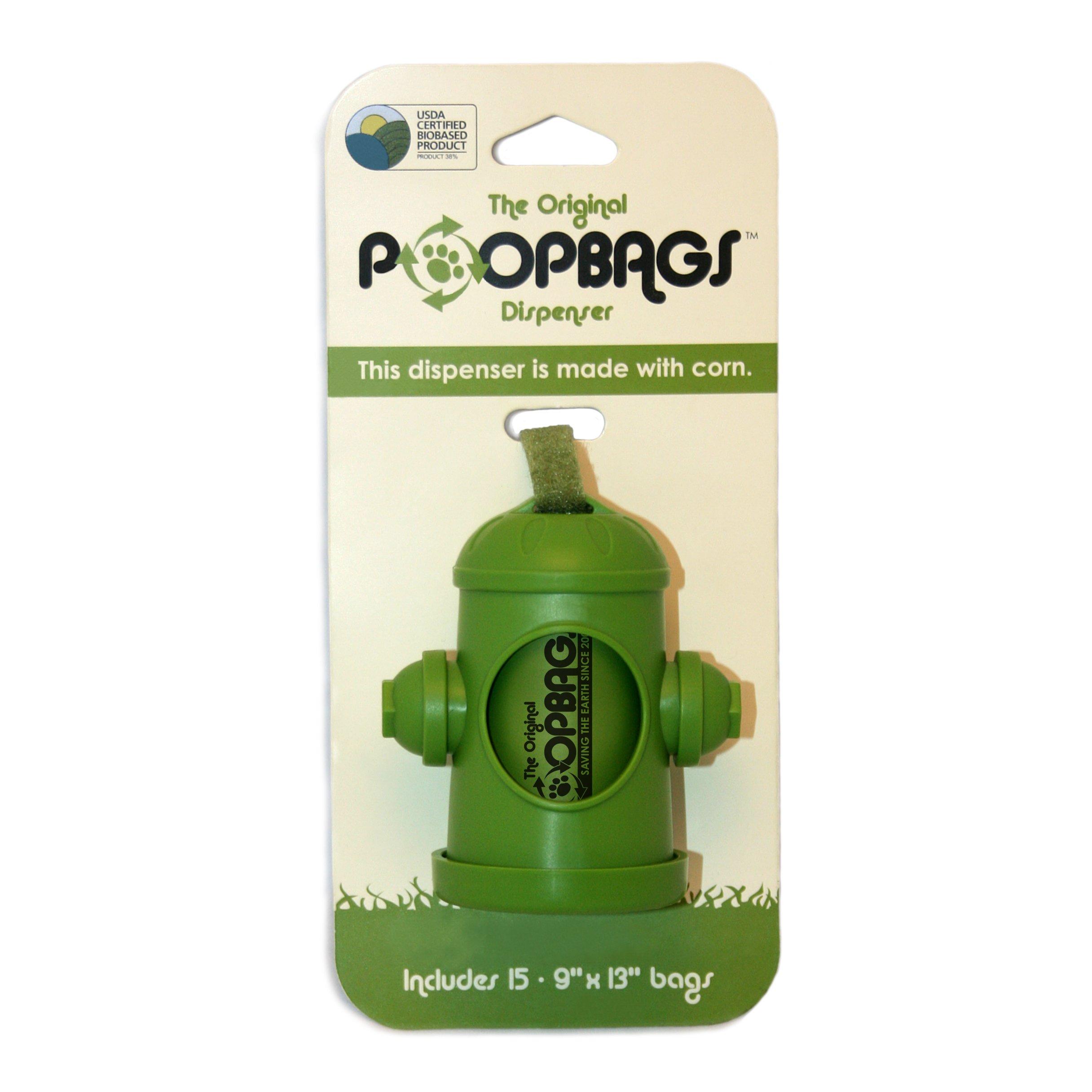 PoopBags The Original HYD007 Poop Bags Dog Waste Bag Dispenser, Green