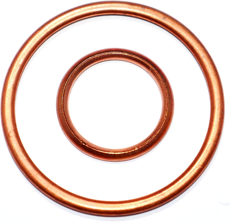 50 Stück Kupferringe Dichtring Dichtung Cu 8x12x1,0 mm DIN 7603 Form A