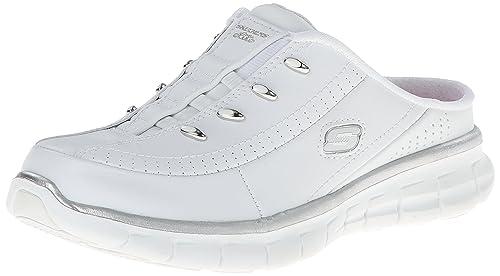 f77b2ae1bfc4 Skechers Sport Women s Elite Glam Synergy Slip-On Mule Sneaker White ...