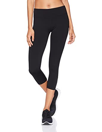 "1fdb61af0fbe7 Starter Women's 20"" Capri Legging with Mesh Panels and Pocket, Amazon  Exclusive, Black"