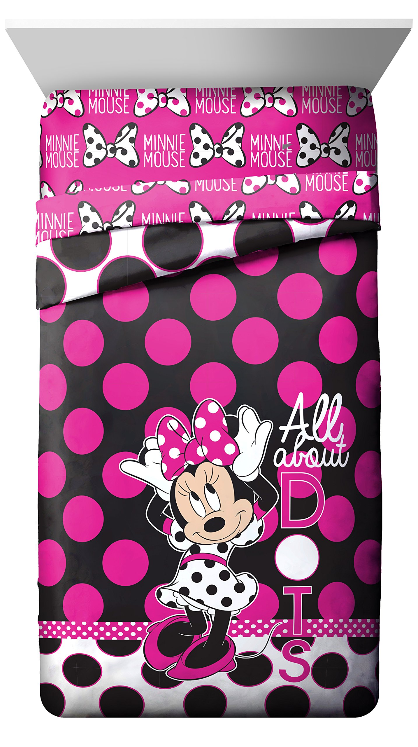 Disney Minnie Mouse All About The Dots Reversible Twin Comforter by Jay Franco