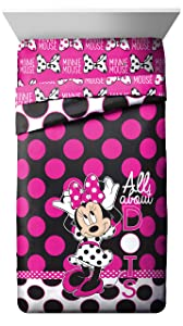 Disney Minnie Mouse All About The Dots Reversible Twin Comforter