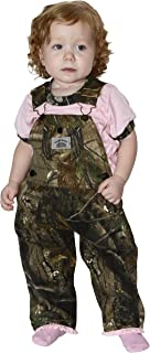 product image for Round House Baby Girls Pink Ruffle Camo Overalls (MULTI 18MO)