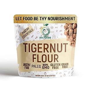 Iya Foods Fine Tigernut Flour 5 lbs. bag, Plant-Based, Grain-Free, Gluten-Free, Nut-Free, Dairy-Free, Non-GMO, Paleo Flour. Made From 100 % Brown Tigernuts