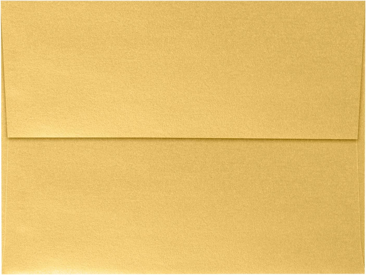 A7 Invitation Envelopes (5 1/4 x 7 1/4) - Gold Metallic (50 Qty) | Perfect for Invitations, Weddings, Announcements, 5x7 Cards | Peel & Press | 80lb. Text Weight | Printable | Square Flap | 5380-07-50