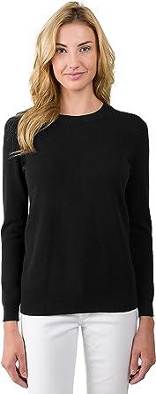 Evvor Womens Polo Neck Cashmere Blend Soft Long Sleeve Top