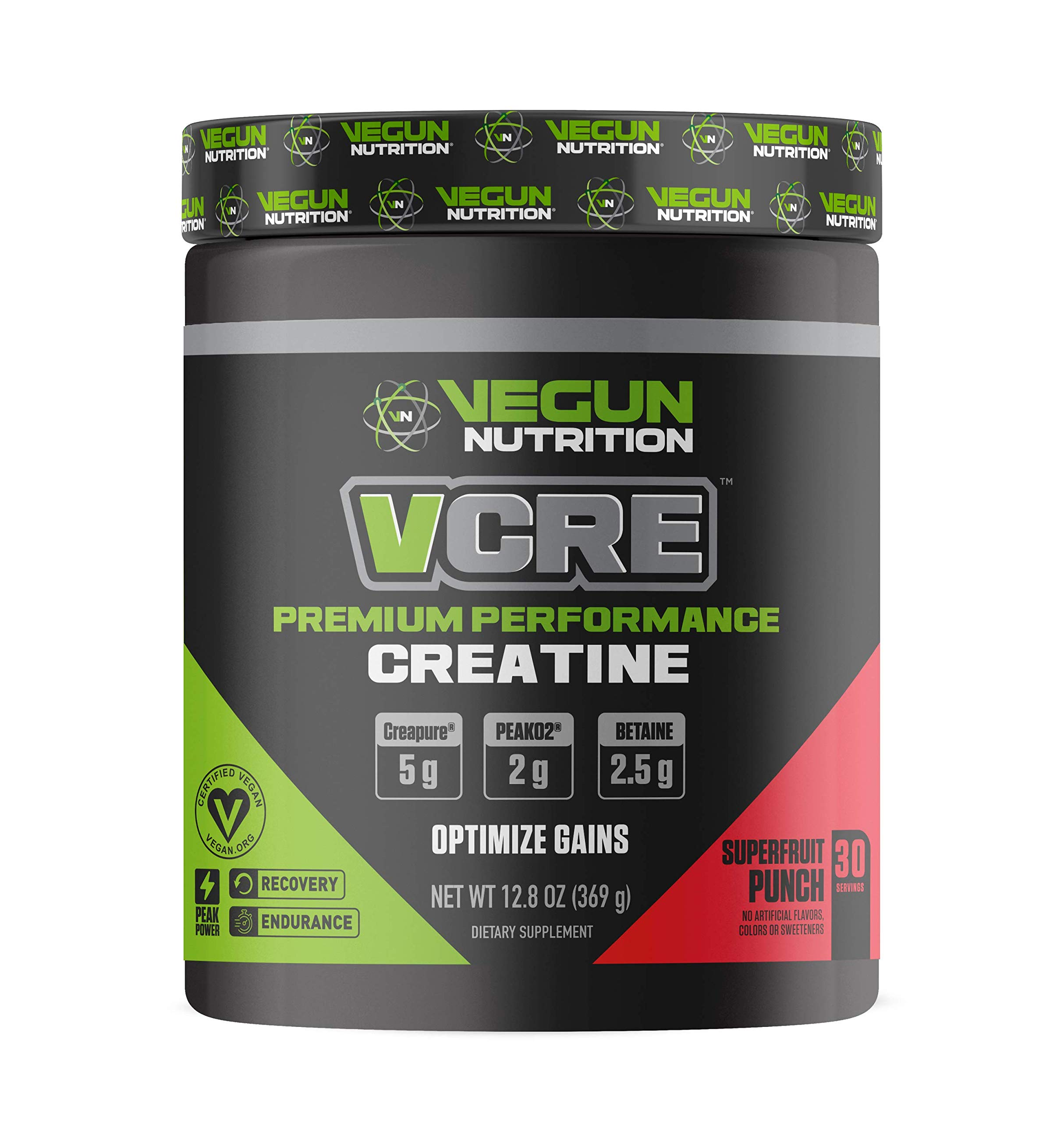 Vegun Nutrition - VCRE - Vegan Friendly Creatine - Pure Micronized Creatine Monohydrate - Post Workout Supplement for Men & Women - All Natural Lean Muscle Builder - Vegan Friendly - Increase Recovery by Vegun Nutrition