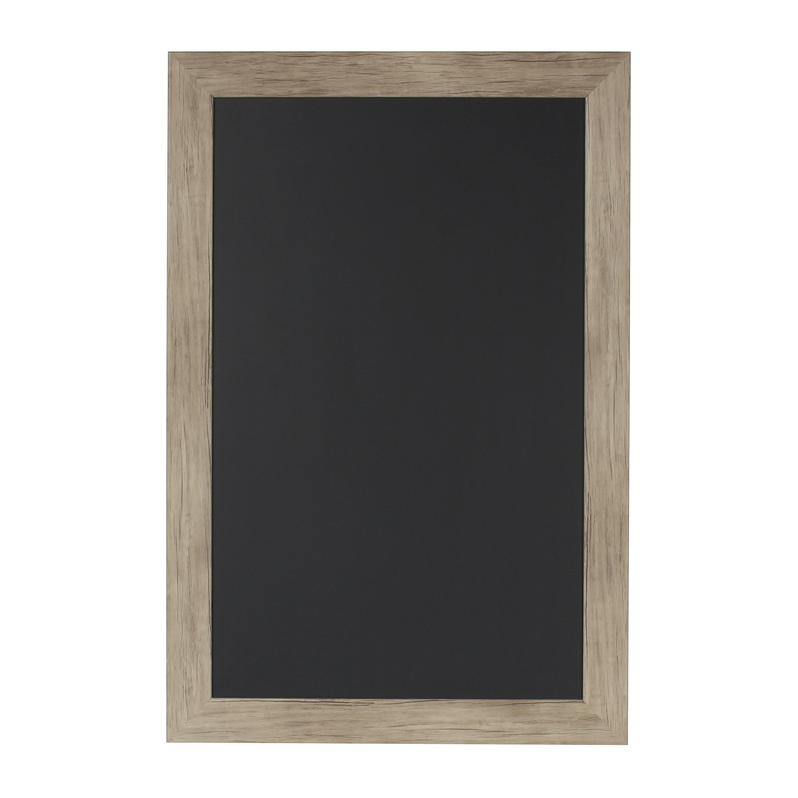 DesignOvation Beatrice Framed Magnetic Chalkboard, 18'' x 27'', Rustic Brown by DesignOvation