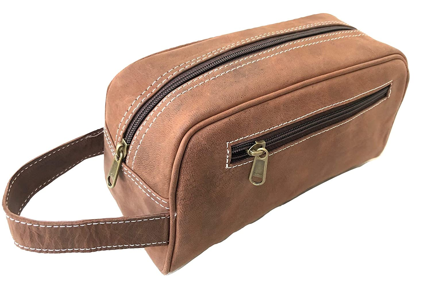 Toiletry Travel Bag for Men Large Leather Dopp Kit Mens Toiletries Bathroom Organizer