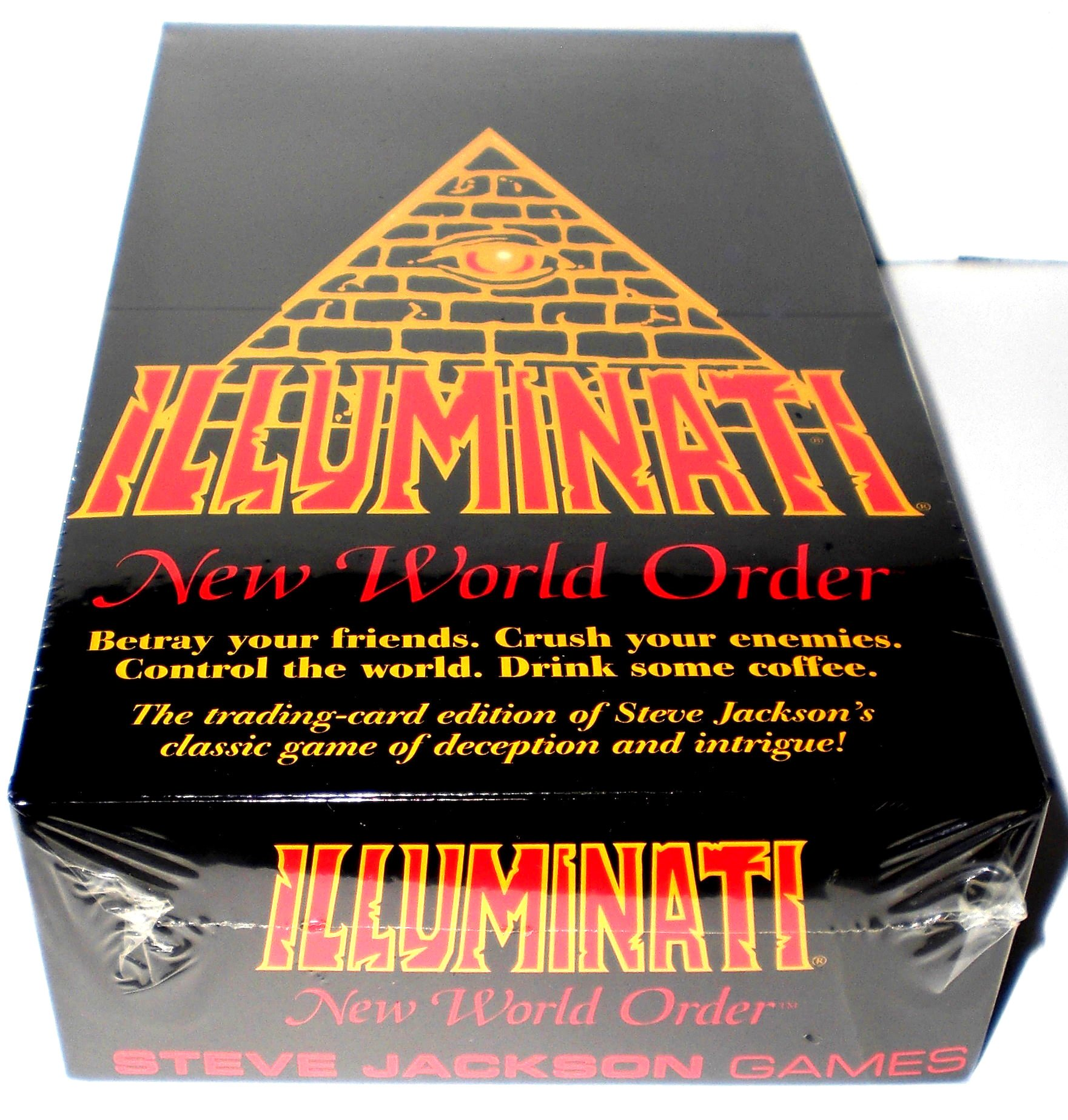 1994-1995 ILLUMINATI NEW WORLD ORDER Card Game Factory SEALED CCG (INWO: Limited Ed Booster Pack POP)(540 cards total)By Steve Jackson(Limited Edition ORIGINAL VERSION 1.1 MARCH 1994-1995)