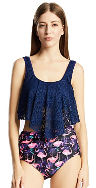 Amazon.com: FIZWI - Trajes de baño de cintura alta para ...