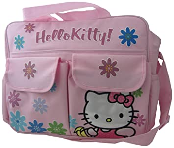 Amazon.com   Hello Kitty Diaper Bag with Front Pockets and Shoulder Strap 7ba856cc7b9a7