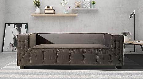 Amazon.com: Iconic Home - Sofá tapizado de terciopelo con ...