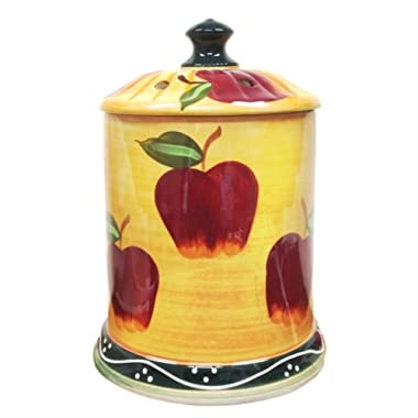 Country Apple Electrical Jar Melter With Lid 8 h 84140, by ACK