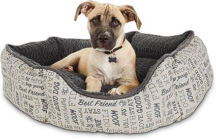 "Harmony Cuddler Orthopedic Dog Bed in Blue 28/"" L x 20/"" W"