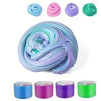Fluffy Slime, 4 pezzi ZeWoo Giocattoli antistress,Fai da te Super Light Argilla Non Sticky Non Borax e Non Tossico Profumato per Bambini e Adulti