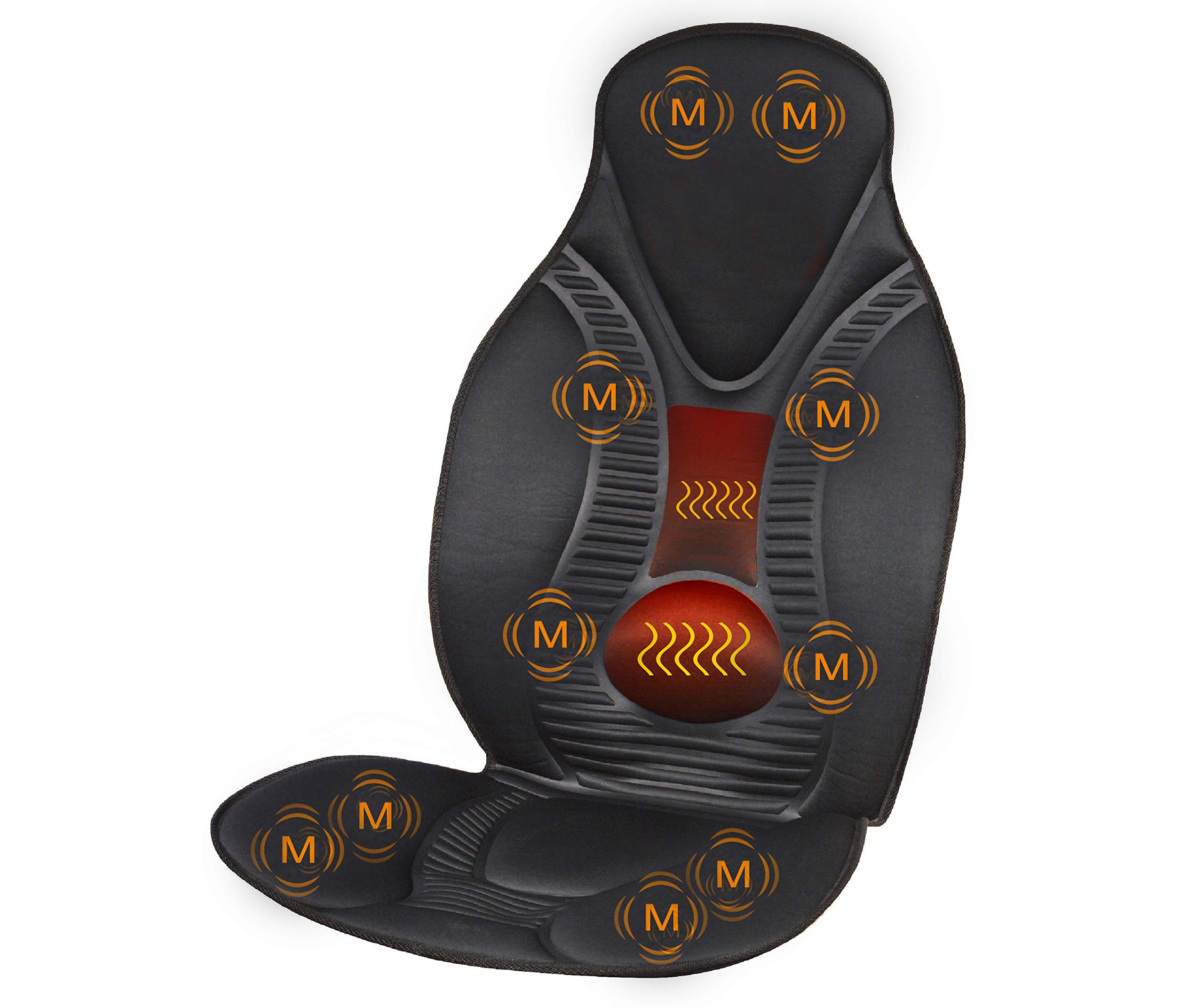 ویکالا · خرید  اصل اورجینال · خرید از آمازون · FIVE S FS8812 10 Motor Vibration Neck, Shoulder, Back, Thigh Massage Seat Cushion, Massager with Heat (Black) wekala · ویکالا