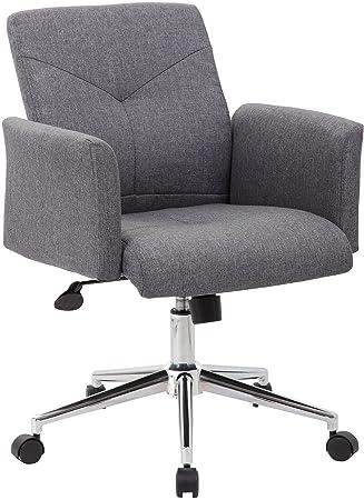 Skye tela silla de oficina giratoria con ruedas y se desliza ...