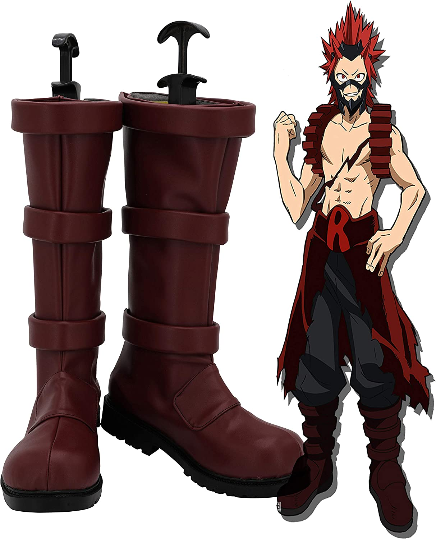 My Hero Academia Kirishima Eijirou Cosplay Shoes Costume Boots Custom Made Halloween Props